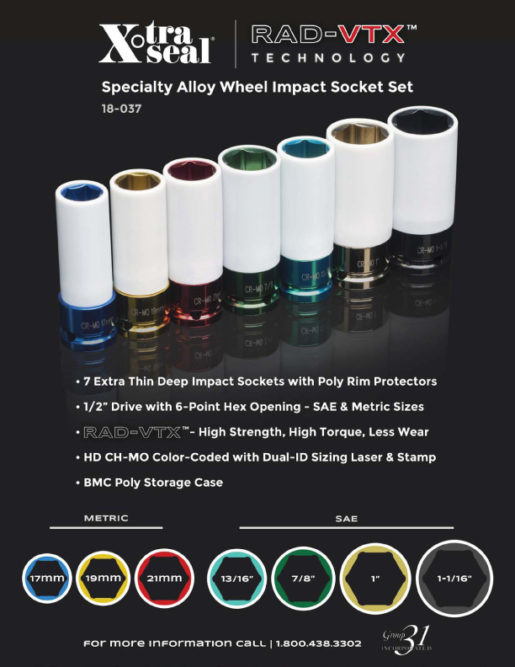 31 Inc. Releases Specialty Alloy Impact Socket Set