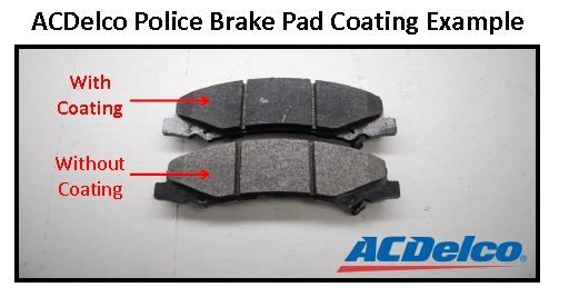 ACDelco coating reduces break-in period for police brakes