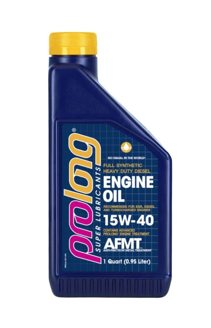 Advanced Anti-Friction Technology Is in New Prolong Diesel Engine Motor Oil