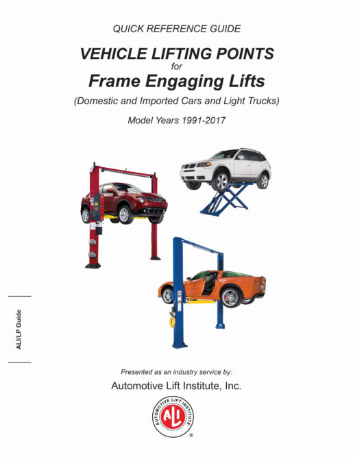 ALI Releases 2017 Vehicle Lifting Guide