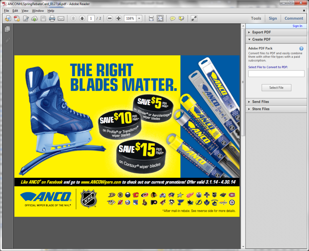 ANCO 'The Right Blades Matter' spring promotion offers consumer rebates