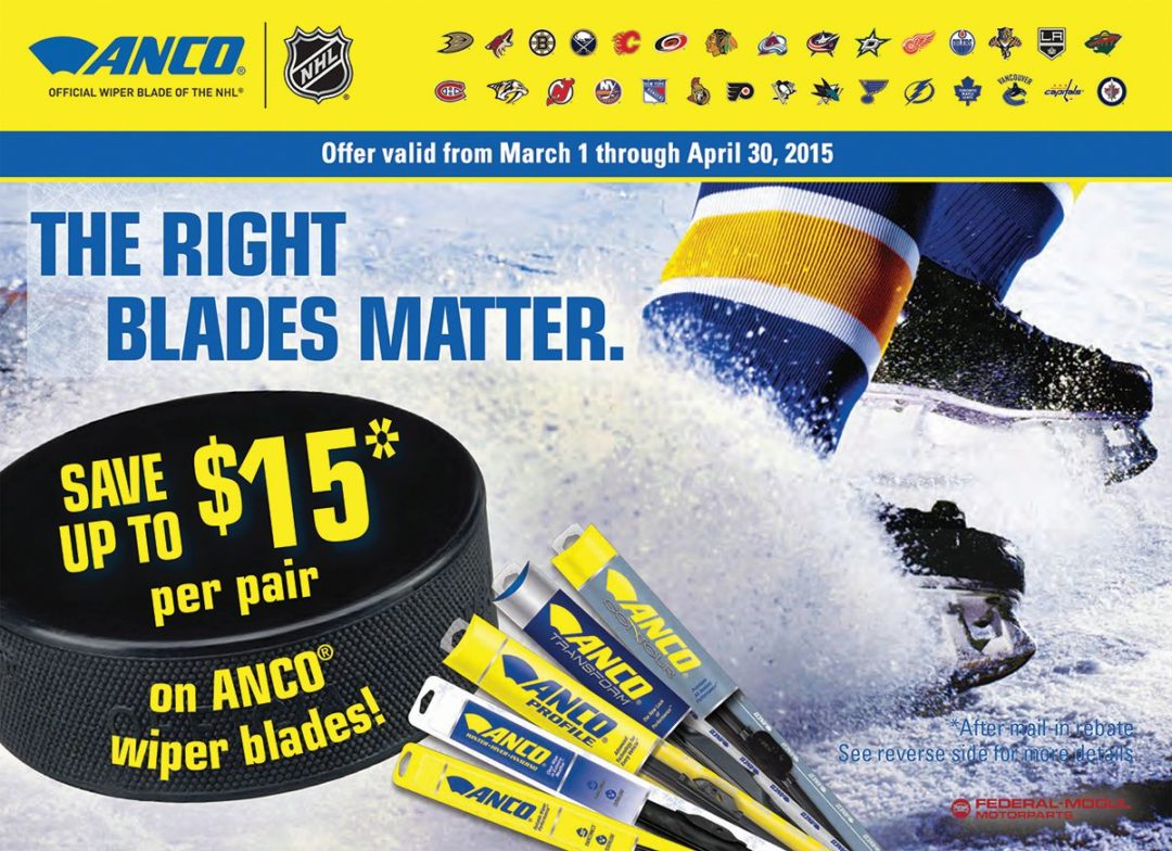 Anco wiper blades are eligible for spring rebate