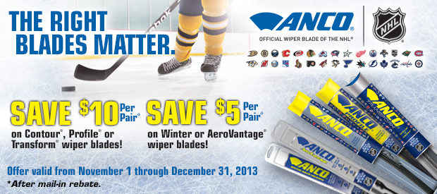 ANCO Wipers promotion 'The Right Blades Matter' offers consumer rebates