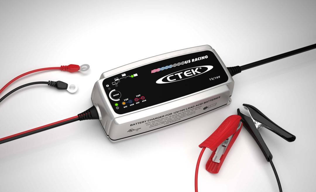Battery charger for racing applications