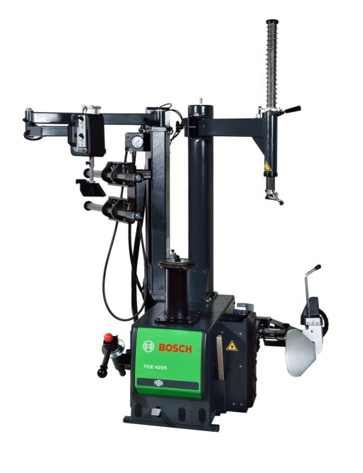 Bosch Expands Wheel Service Line With Swing Arm Center-Post Tire Changer