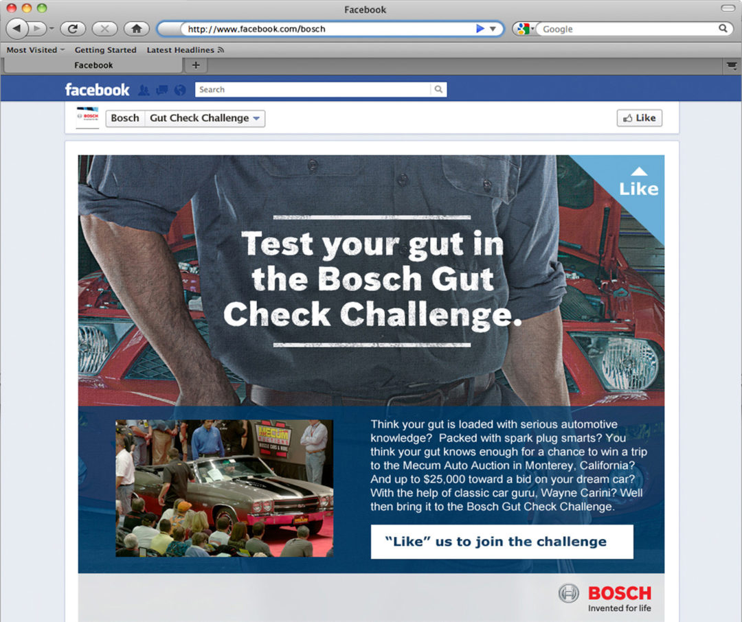 Bosch holds 'The Gut Check Challenge'
