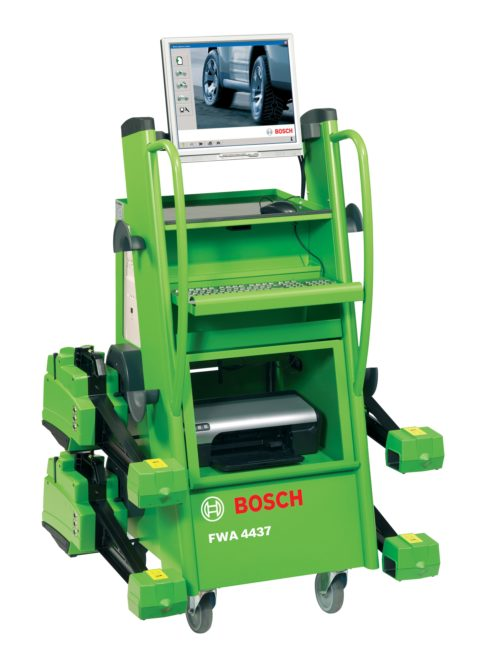 Bosch integrates KTS diagnostic tool with alignment system