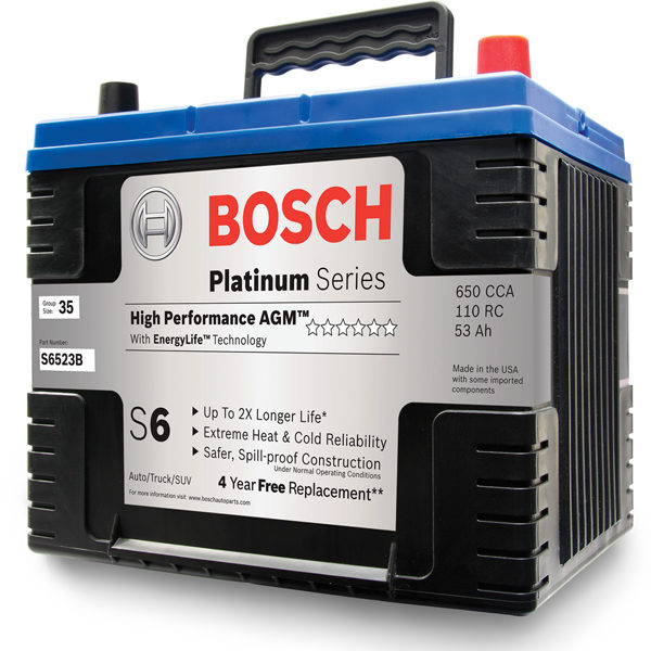 Bosch offers a complete range of batteries for passenger vehicles