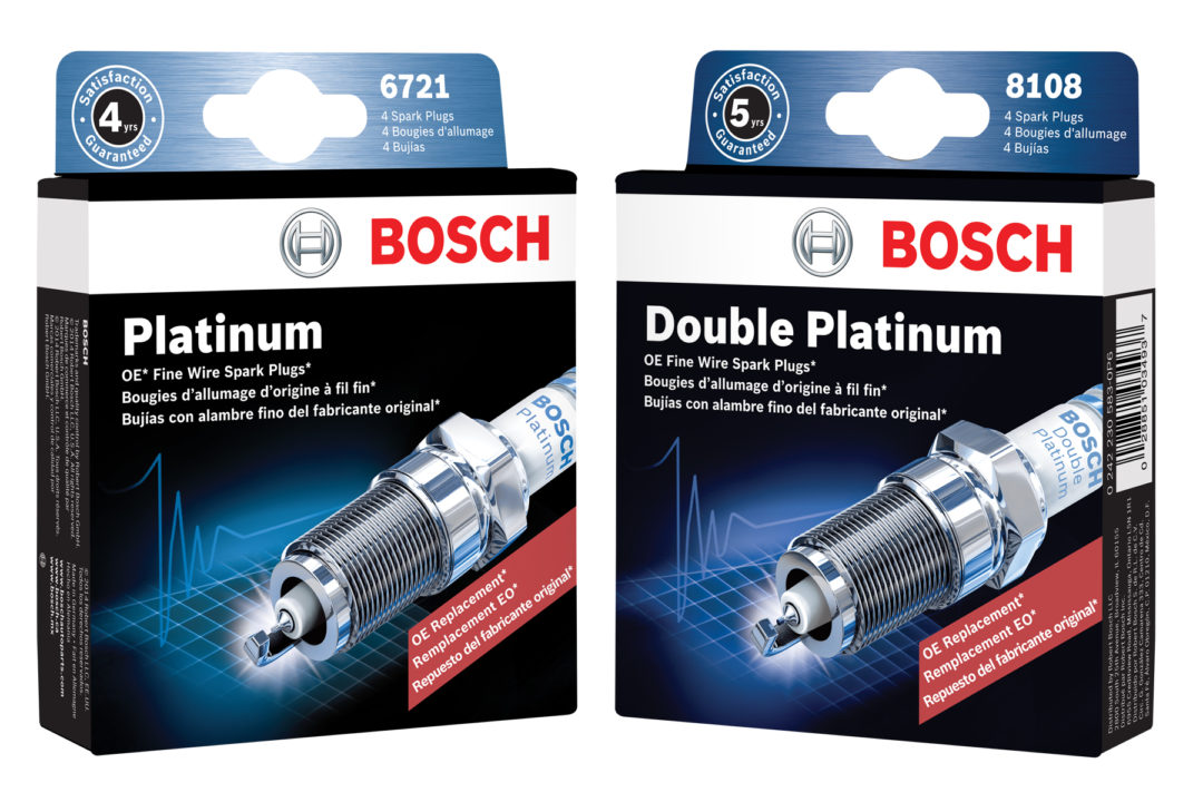 Bosch's new spark plug packaging includes trilingual product information