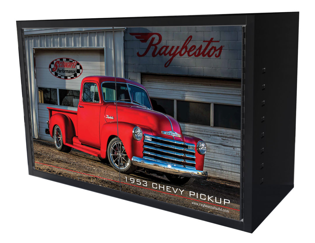 Brake Parts Offers Tool Cabinet Featuring '53 Chevy Pickup