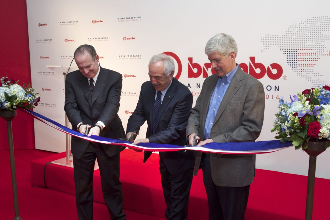 Brembo holds grand opening for expanded manufacturing facility