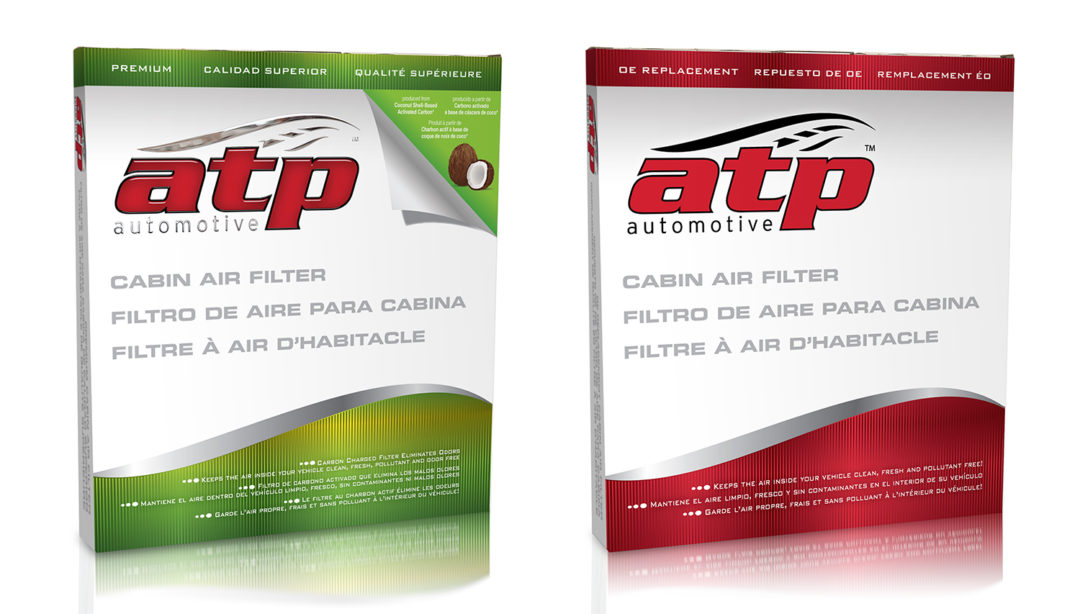 Cabin filters from ATP come in new packaging