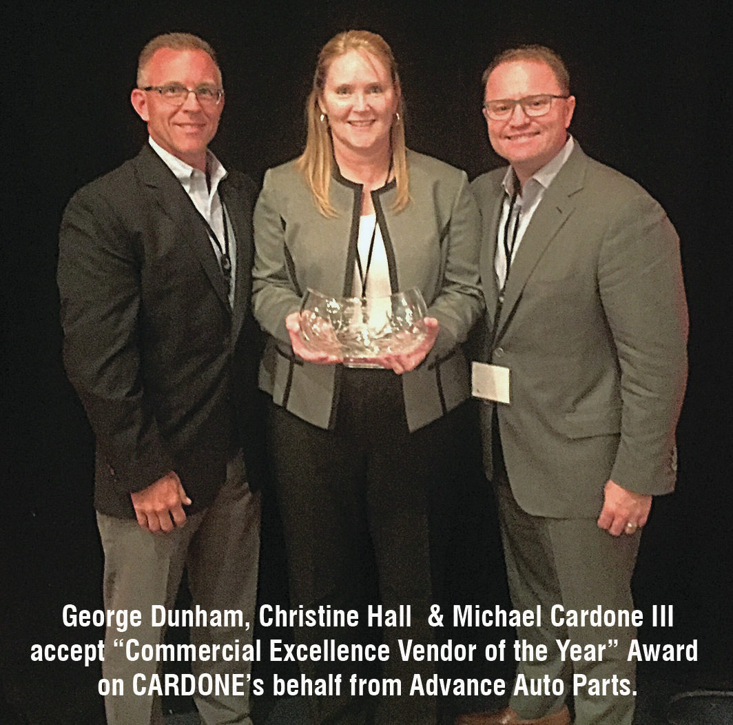 Cardone Earns Advance Auto's Commercial Excellence Vendor of the Year Award