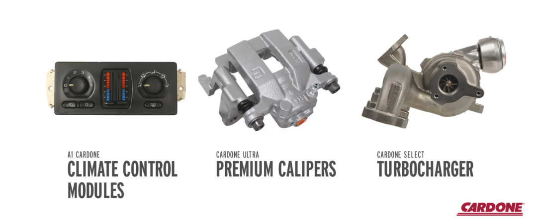 Cardone's Latest Release Includes Calipers, Turbochargers and Axles