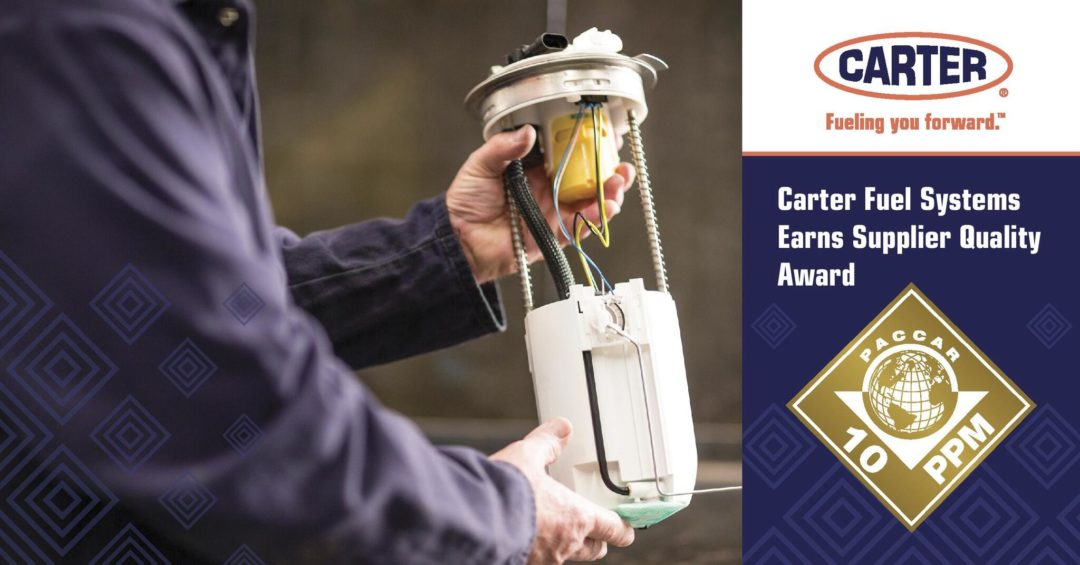 Carter Fuel Systems Earns Supplier Quality Award