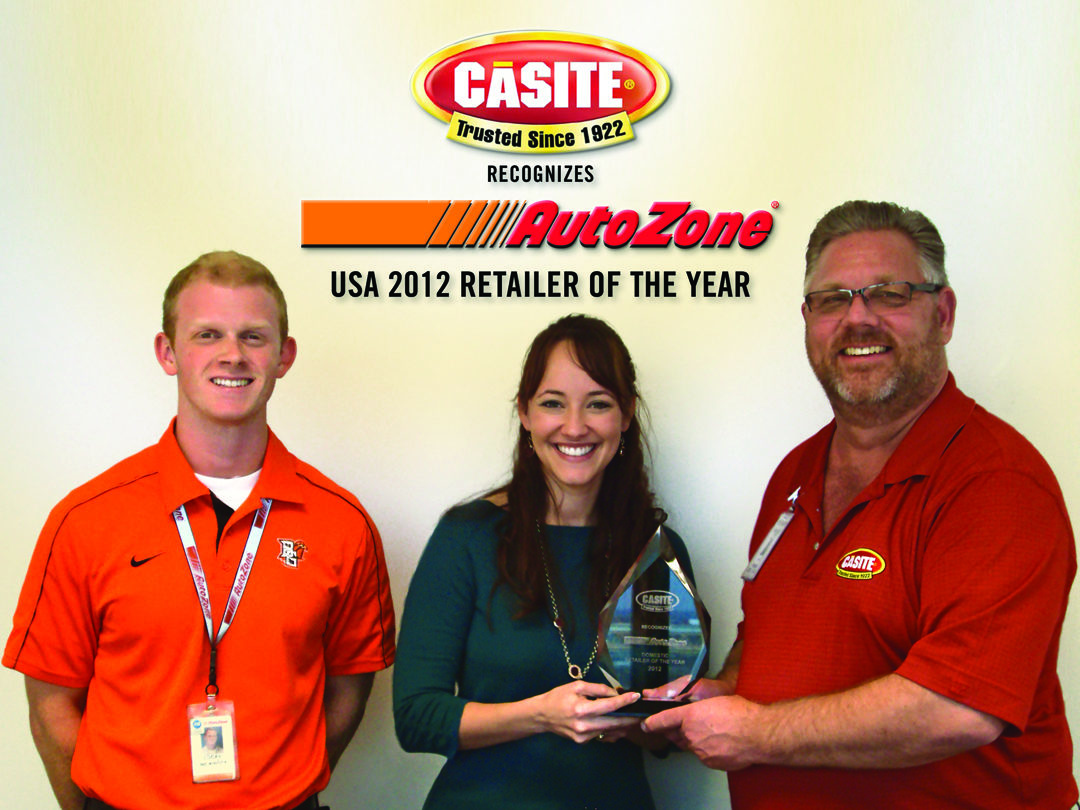 Casite names AutoZone 'Retailer of the Year'