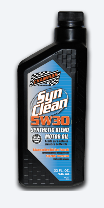 Champion Launches New SynClean and SynGold Motor Oils