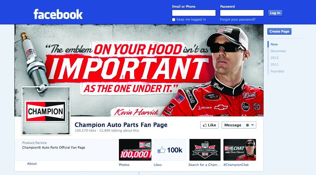 'Champion' of Facebook: Federal-Mogul brand gets 100,000 'likes'