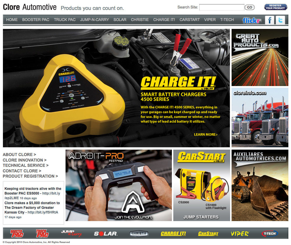 Clore Automotive relaunches Web site