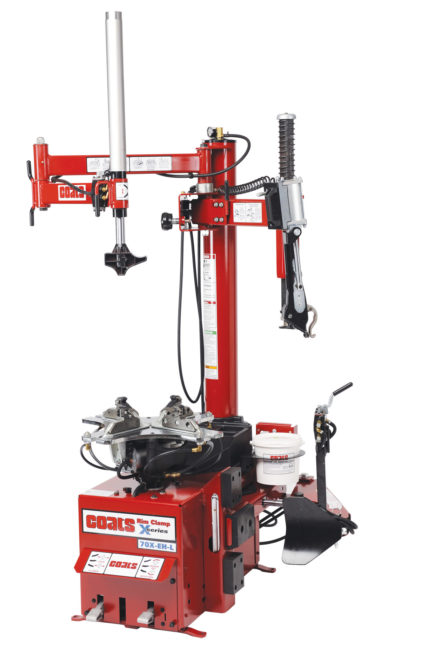 Coats 70X Tire Changer features leverless mount/demount head