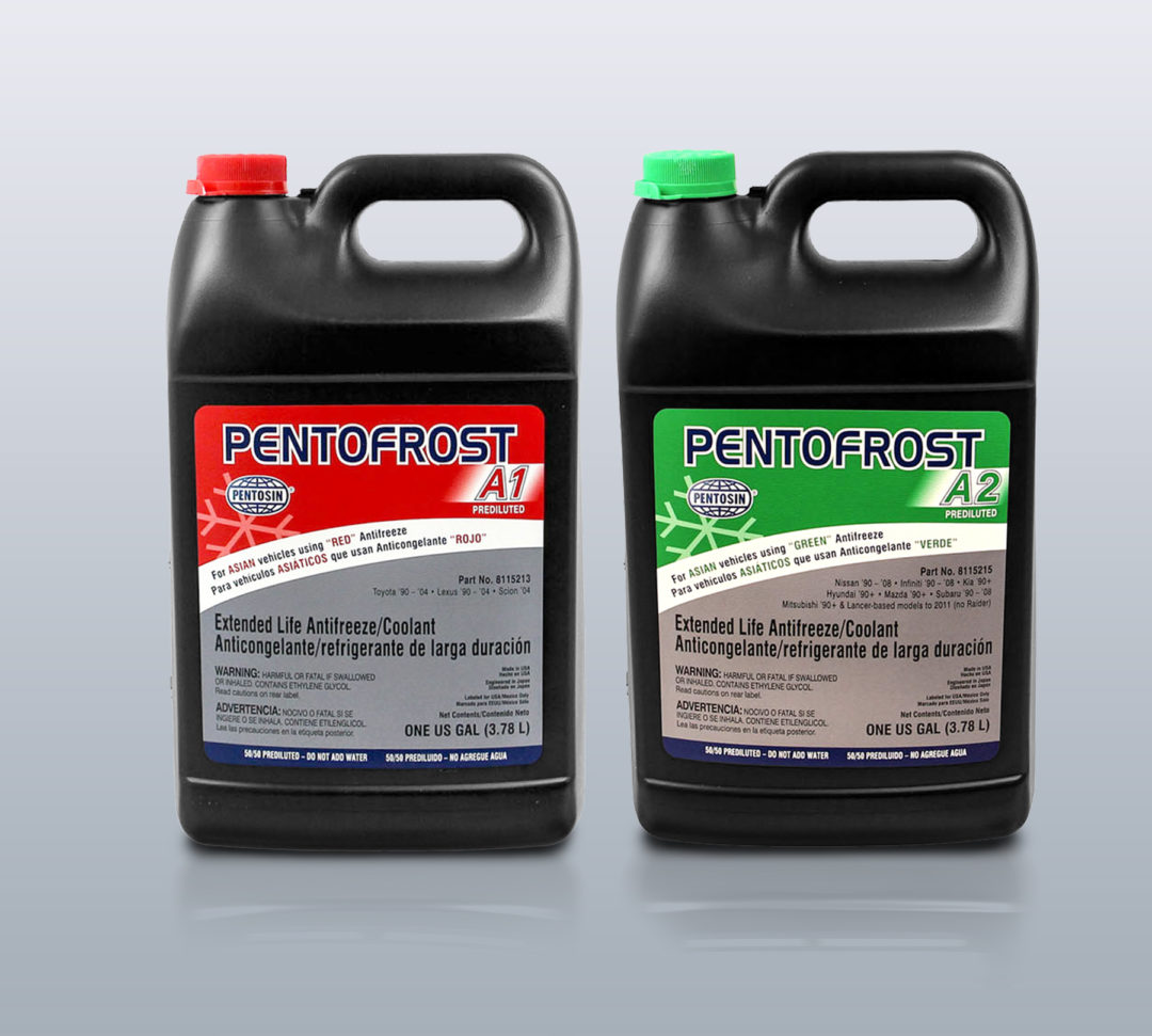 CRP Automotive Adds Prediluted Pentofrost A1 and A2 to Antifreeze Line