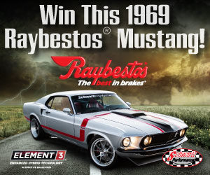 Deadline Extended for Raybestos '69 Mustang Sweepstakes