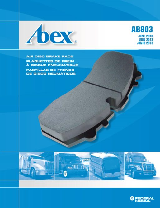 Digital Abex commercial vehicle Air Disc Brake Catalog from Federal-Mogul