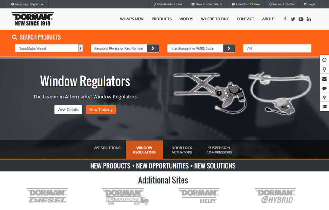 Dorman Products Launches Redesigned Websites