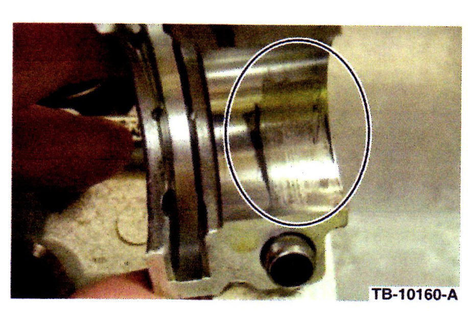 Excessive cam bearing clearance may set DTCs