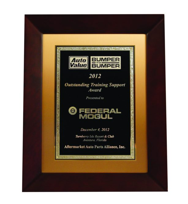 Federal-Mogul receives Aftermarket Auto Parts Alliance Training Support Award