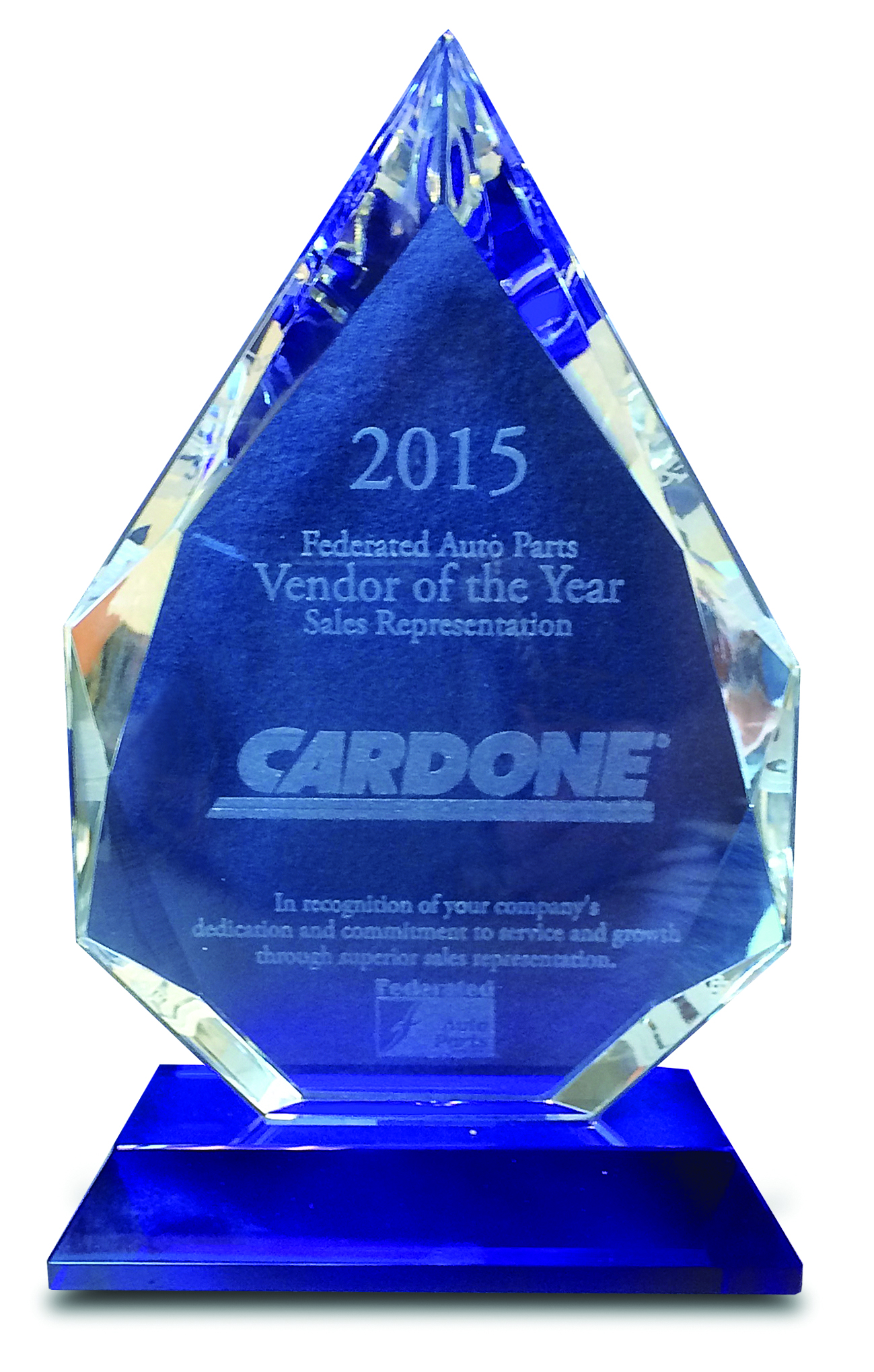Federated Auto Parts Honors Cardone with Sales Representation Award
