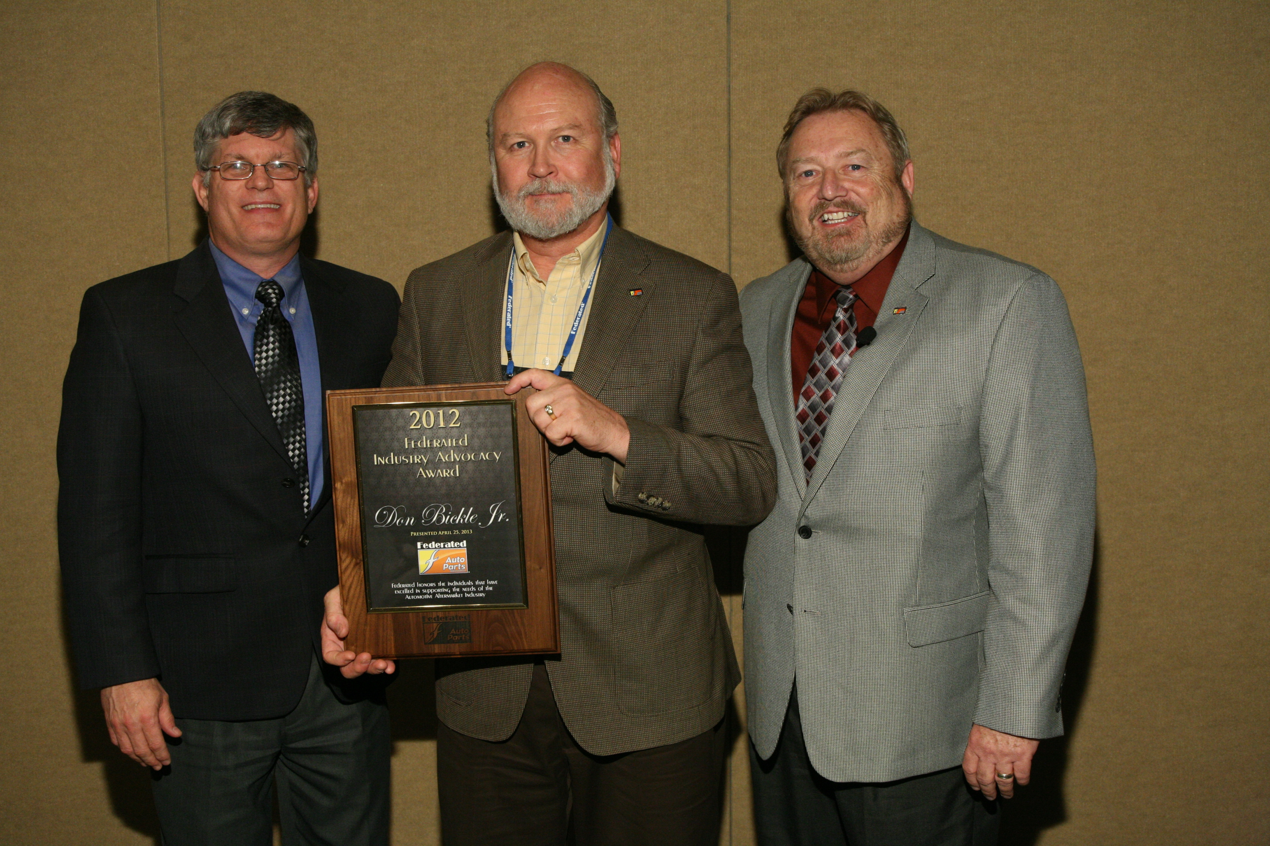 Federated honors member Don Bickle Jr. with Industry Advocacy Award