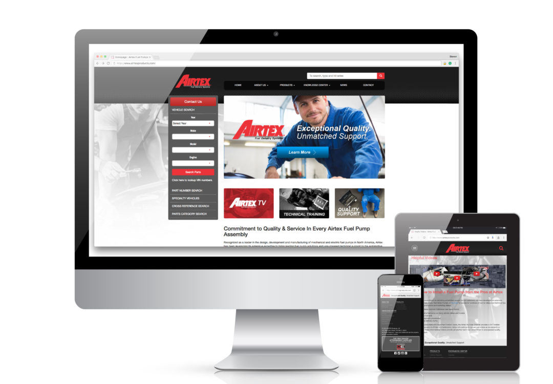 Finding Fuel Pumps is Easy on New Airtex Website