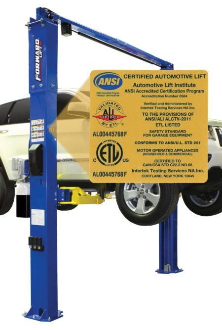 Forward Lift Articles recertified to wear gold ALI label