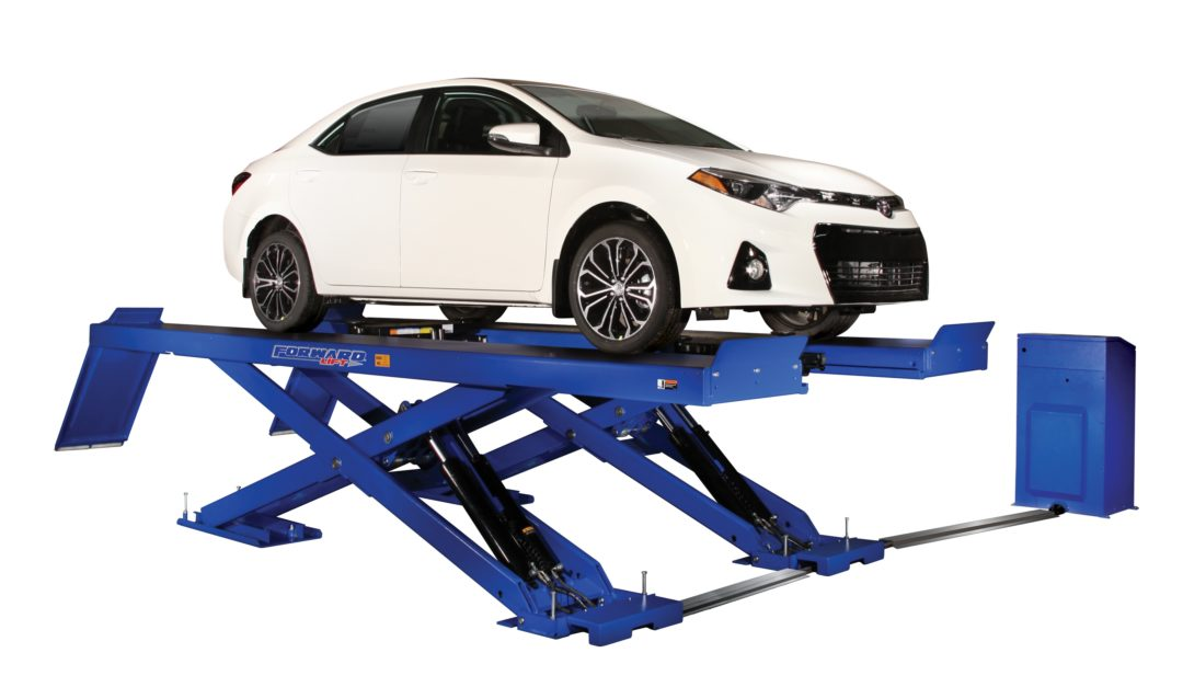 Forward Lift has new scissor lift with narrower footprint for tight spaces