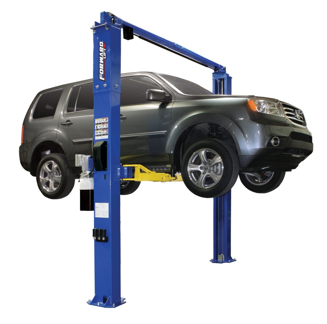 Forward Lift I10 two-post lift adapts to service a variety of vehicles