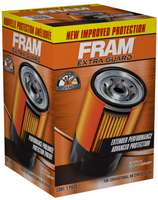 Fram Upgrades Extra Guard Spin-On Oil Filters With Silicone Start-Up Protection