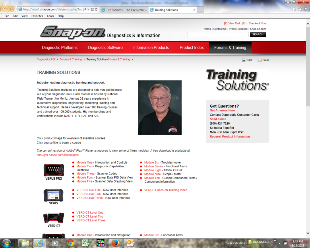 Free Vantage Ultra Training Solutions modules added to Snap-on website