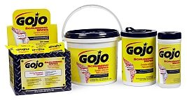 GOJO extra-large Scrubbing Wipes have conditioner