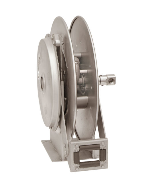 Hannay N800 Series reels feature a narrow frame and compact mounting base