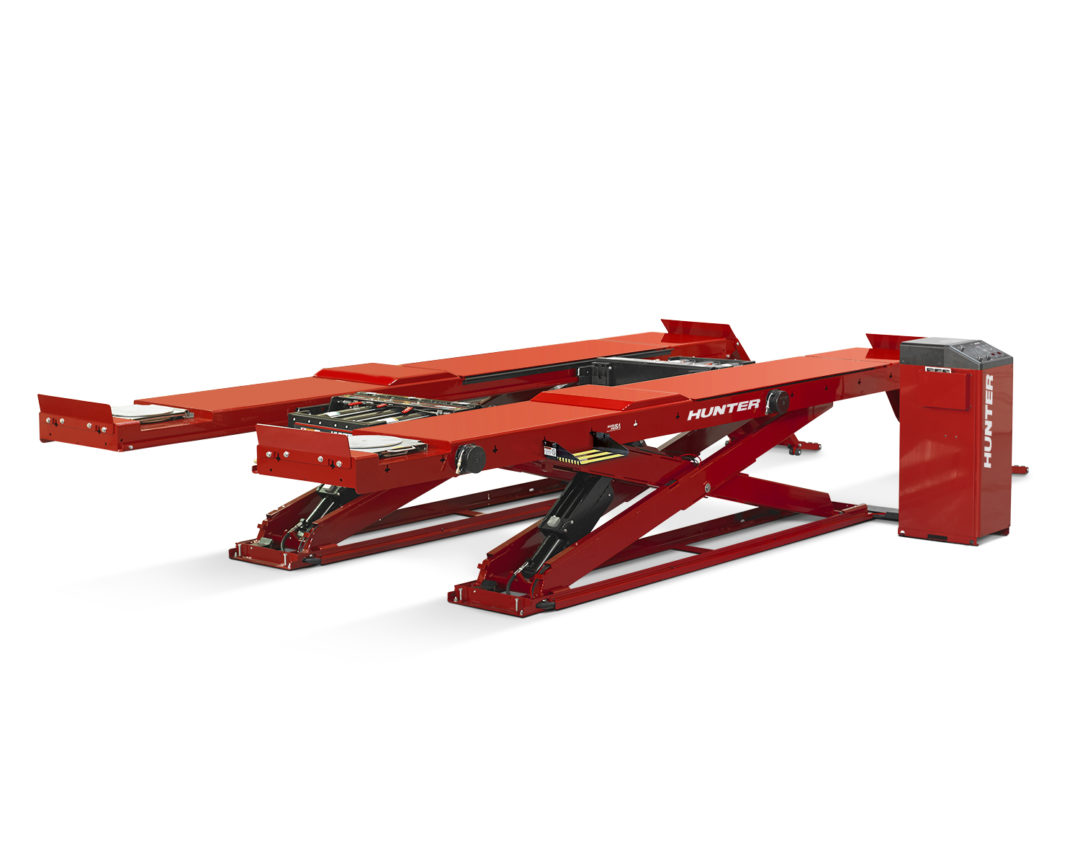 Hunter Has New Low-Profile, High-Capacity Lift Rack