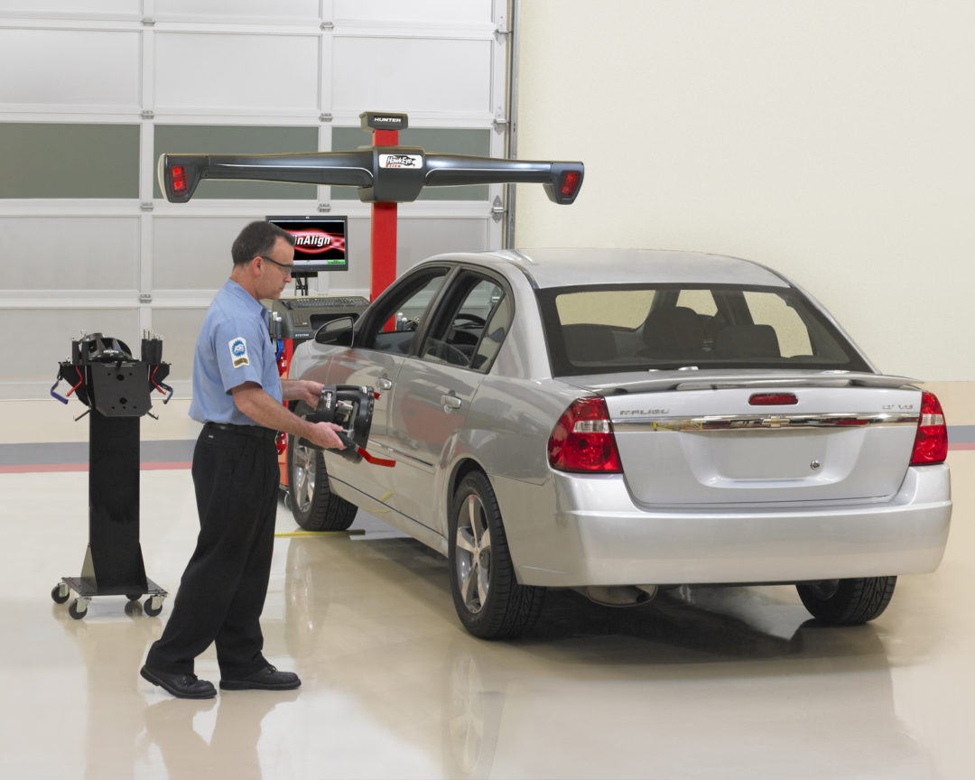 Hunter's Quick Check system verifies alignment need in 58 seconds