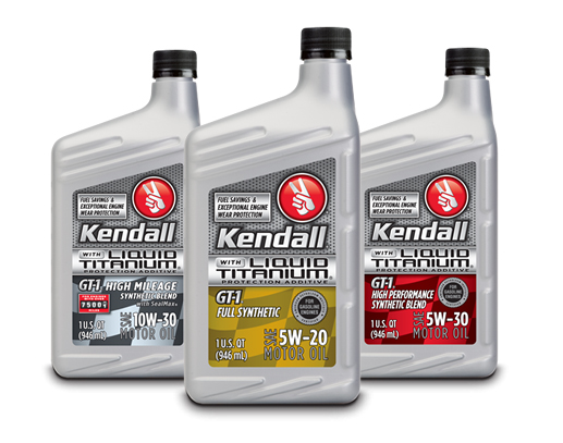 Kendall Liquid Titanium motor oil offers engine protection, fuel savings