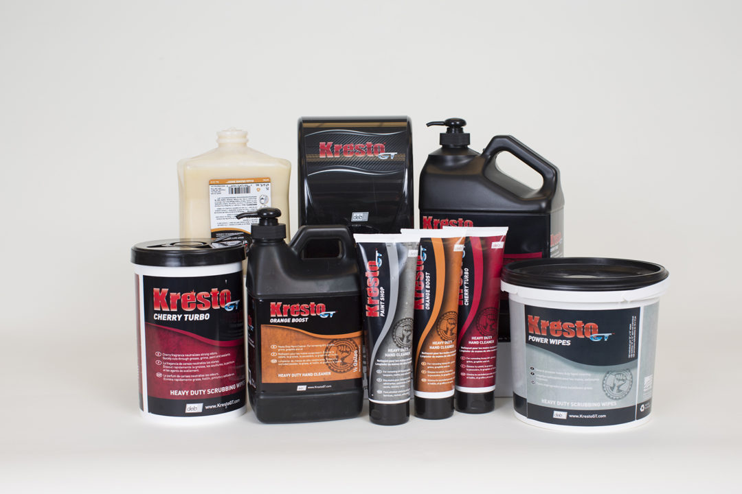 KrestoGT heavy-duty hand cleaners are gentle on hands