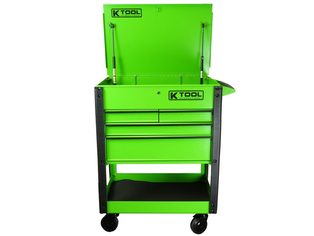 KTI Adds Shop Cart With Lockable Compartments