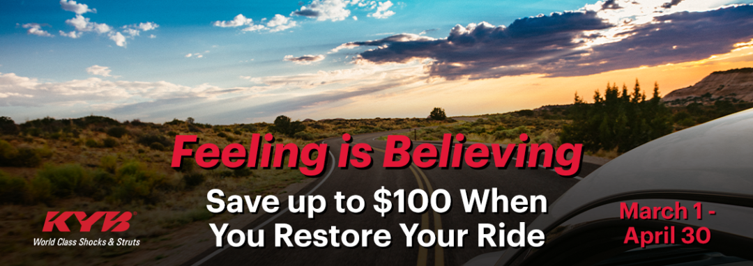 KYB Launches 'Feeling is Believing' Rebate Promotion