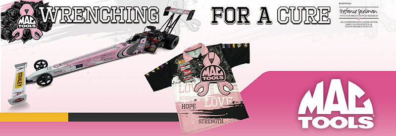 Mac Tools, Kalitta Motorsports partner for 'Wrenching for a Cure' program