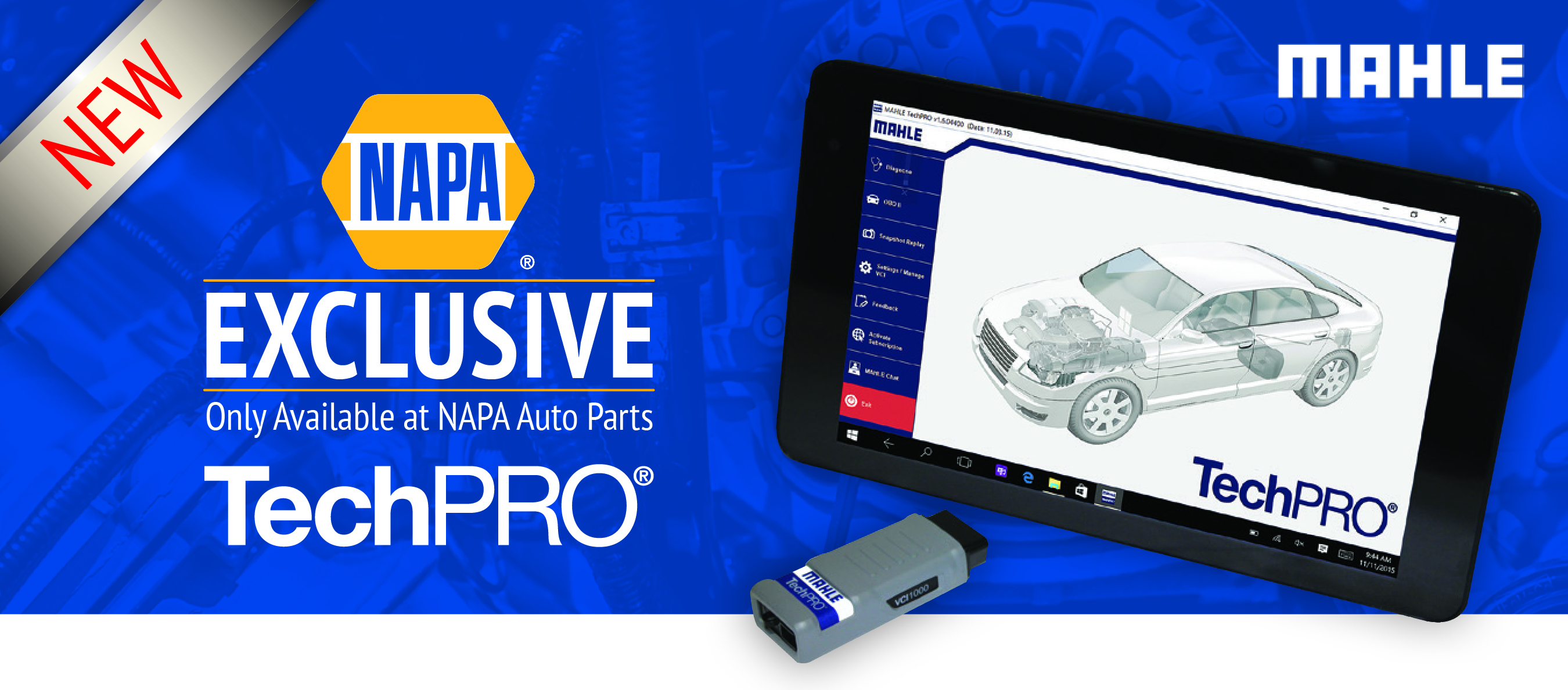 Mahle TechPRO Diagnostic Tool Available Exclusively Through NAPA