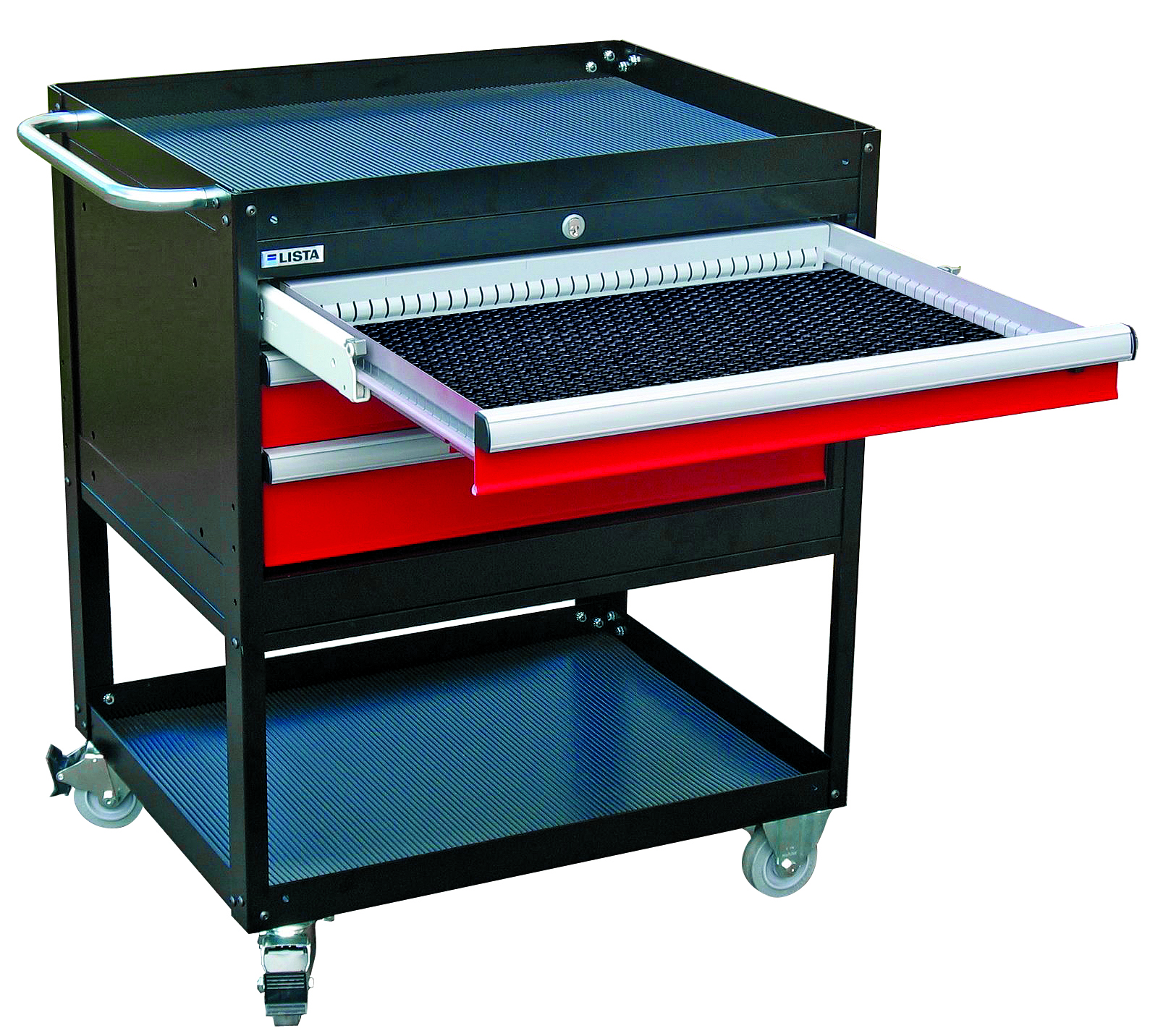 Maneuverable, secure tool carts from Lista
