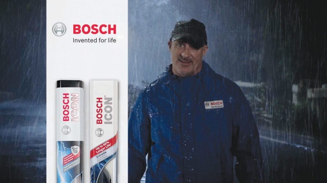 Meteorologist Jim Cantore pitches Bosch Icon wiper blades